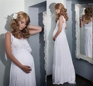 2016 boho lace maternity wedding dresses lace pregnant With boho maternity wedding dress