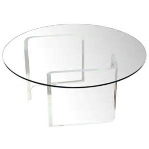 Lucite Round Cocktail Table At 1stdibs