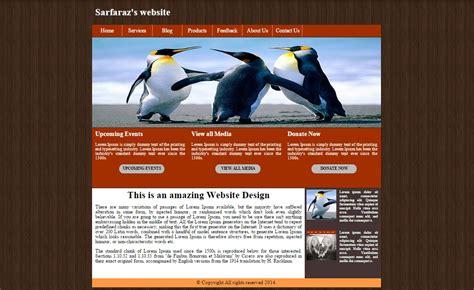 website template  html  css  source code