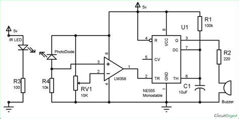 Infrared Security Alarm Circuit Diagram Electronic