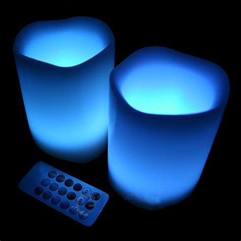 rainbow led candles with remote control
