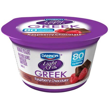 dannon yogurt light and fit dannon light fit raspberry chocolate nonfat yogurt