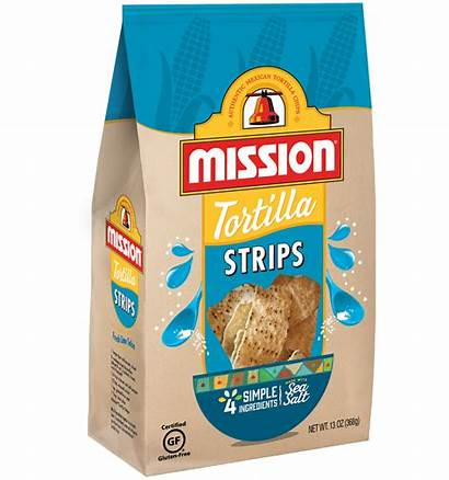 Chips Tortilla Strips Mission Corn Bag Brown