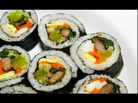korean sushi kimbap how to make kimbap quot the korean sushi quot fast and delicious youtube