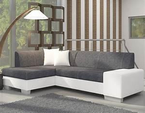 canape d39angle blanc et gris moderne With tapis moderne avec canapé d angle bicolore