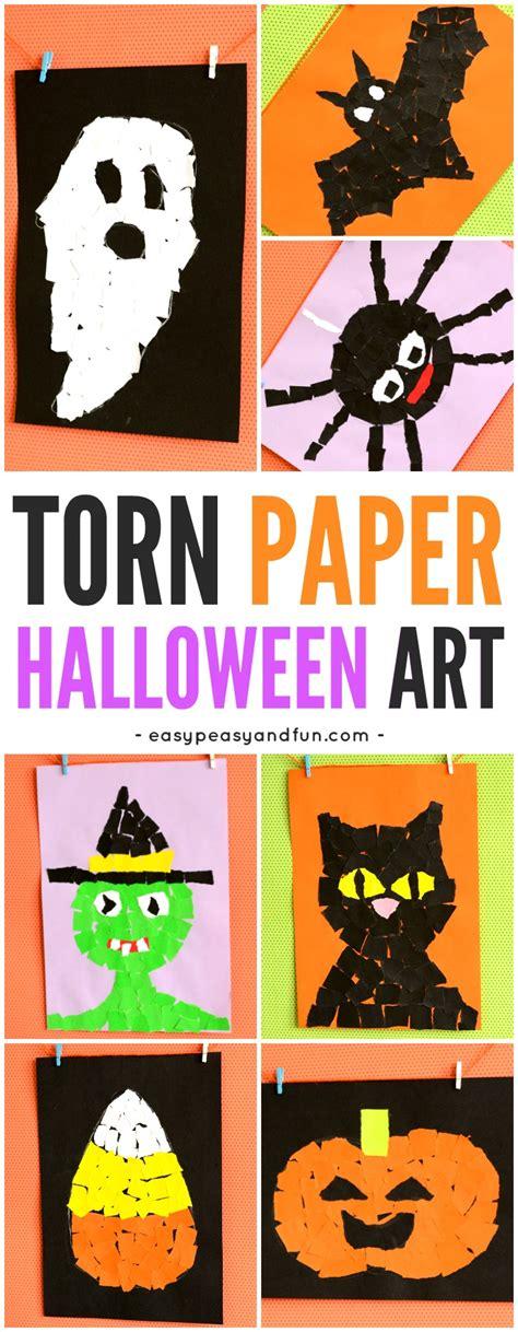 Halloween Torn Paper Art Ideas  Mosaic Collage Art Easy