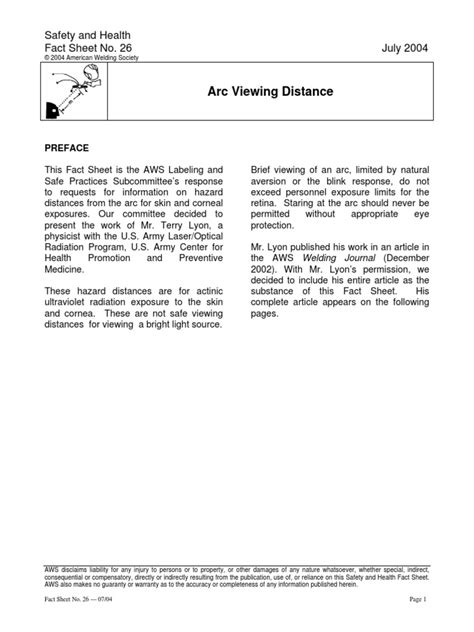 Arc Viewing Distance | Welding | Applied And