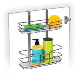 lynk over the cabinet door organizer double shelf with