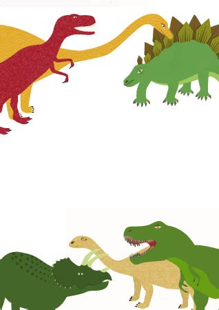 early learning resources dinasaur themed notepaper