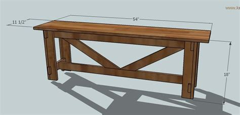 woodworking simple rustic bench plans project