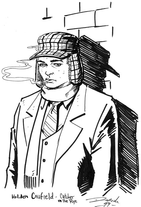 Holden Caulfield Hunting Hat Coloring Page