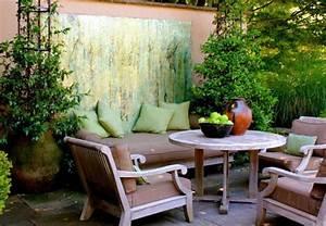 Salon De Jardin Couleur : d co mur ext rieur jardin 51 belles id es essayer ~ Teatrodelosmanantiales.com Idées de Décoration