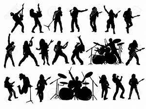 Rock band logo clipart
