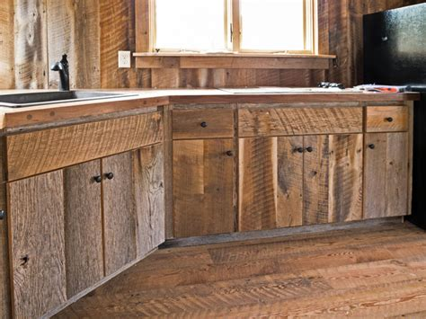 rustic wood kitchen cabinets custom crafted barn wood cabinets rustic kitchen