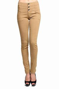 MOGAN 3Button HIGH WAISTED SKINNY JEANS Colored Washed ...