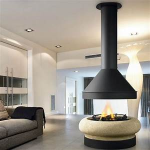 TRAFORART Fireplaces Zeus Gas Without Glass, Wood and Gas