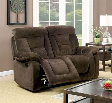 bloomington cm6129br reclining sofa in brown fabric w options