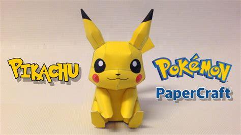 pikachu papercraft  pokemon  wo