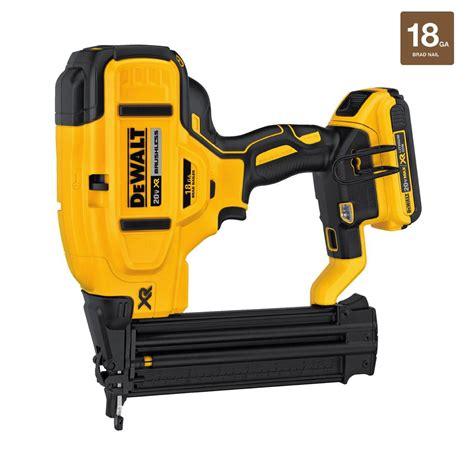 home depot dewalt floor nailer dewalt 20 volt max lithium ion 18 cordless brad