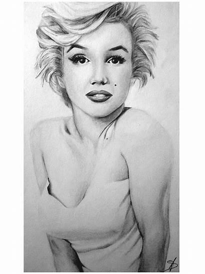 Monroe Marilyn Pencil Sketch Deviantart Sketches Wind
