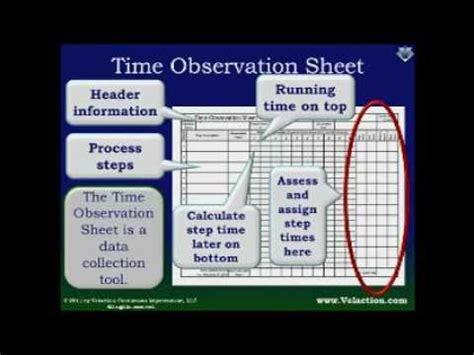time observation sheet overview standard work form youtube
