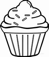 Cupcake Coloring Pages Simple Drawing Easy Cool Boys Printable Clipart Template Colouring Sprinkles Food Cupcakes Wecoloringpage Single Sheets Print Fun sketch template