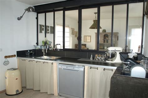 ouverture cuisine sur sejour une cuisine au style industriel une verrière pour un