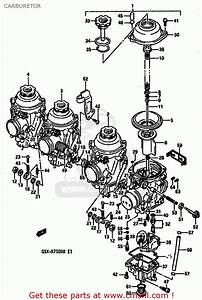 Suzuki Gsxr750r 1989  K   E01 E02 E04 E22  Carburetor