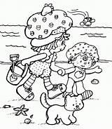 Coloring Summer Beach Pages Shortcake Strawberry Printable Season Preschool Sheets Colouring Prints Printables Popular Cat Visit Coloringhome Four sketch template