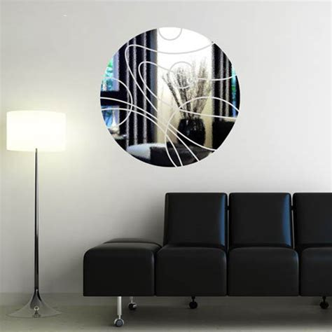 mirror sticker wall decor ideas for spacious room design