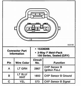 Wiring For Upper Crankshaft Position Sensor Connector