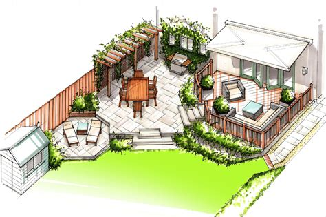 small house plans with courtyards family back garden outerspace