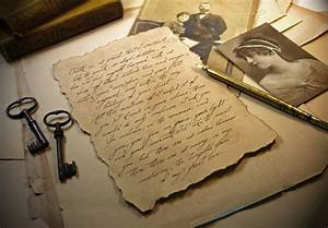custom love letter on vintage style paper old script antique With old fashioned letter writing supplies