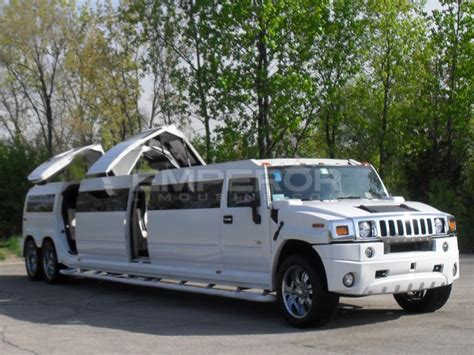 hummer limousine with limo service chicago h2 hummer double axle jet door