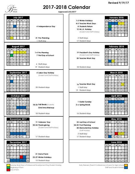 Calendar School Bryan County Schools