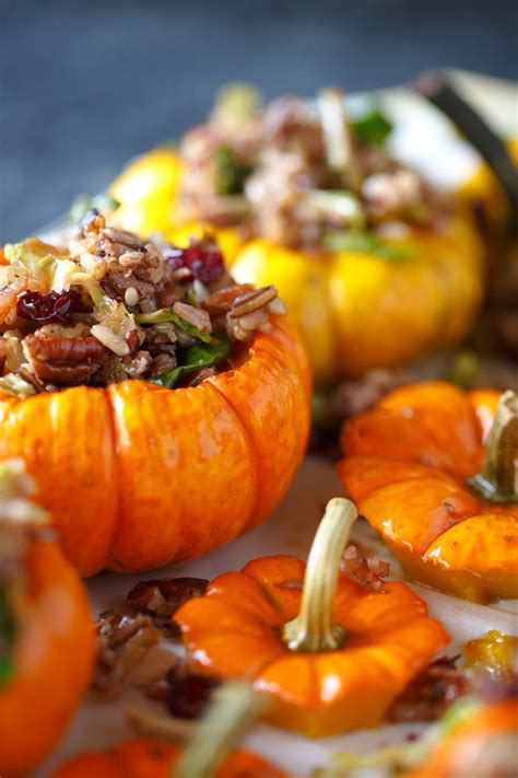 Savory Stuffed Mini Pumpkins Recipe Pumpkin Cooking