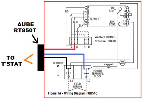 Low Voltage Wiring Diagram by Low Voltage Thermostat On 5kw Farenheat Heater