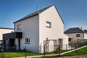 Porche Entrée Maison : maison traditionnelle bi pente ardoises bardage zinc sur ~ Premium-room.com Idées de Décoration