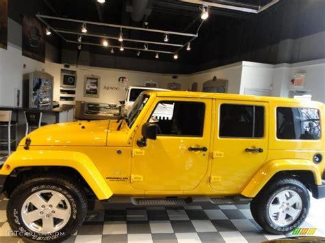 jeep yellow detonator yellow 2011 jeep wrangler unlimited sahara 4x4