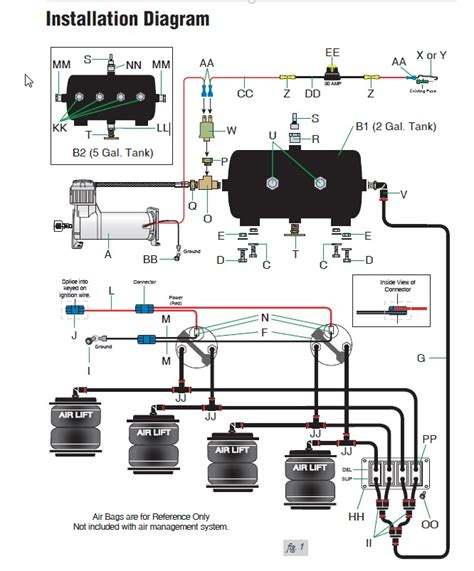 Wiring Diagram For Air Bag Suspension by 6 Best Images Of Adjustable Air Ride Suspension Diagram