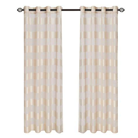 lavish home sofia grommet curtain panel 95 in