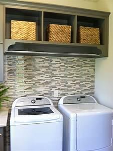Tile, Behind, Washer, Dryer, Rod, Above