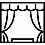 Icon Stage Cinema Theatre Theater Curtains Icons