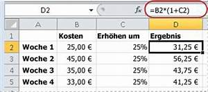 Mehrwertsteuer In Excel Berechnen : anzeigen von zahlen als prozentwerte excel ~ Themetempest.com Abrechnung