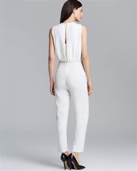 white jumpsuits for theory jumpsuit remaline spiaggia in white lyst