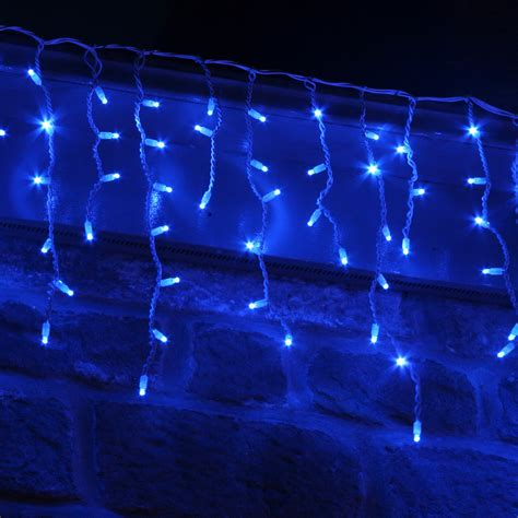 led icicle lights reviews 100 led blue icicle lights connectable for outdoor use