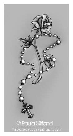 rose tattoos with rosery | rose and rosary tattoo by levilambert designs interfaces tattoo