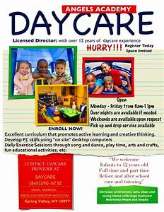 pin by riana barksdale on open house ideas pinterest With daycare flyers templates free