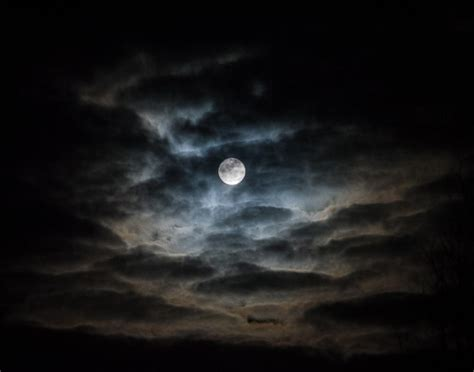 The Moon On A Stormy Winter Night Shutterbug