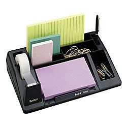 office max desk organizer scotch c61 tape and desk organizer black by office depot